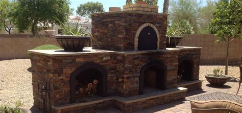 outdoor fireplace with pizza oven fireplace designs