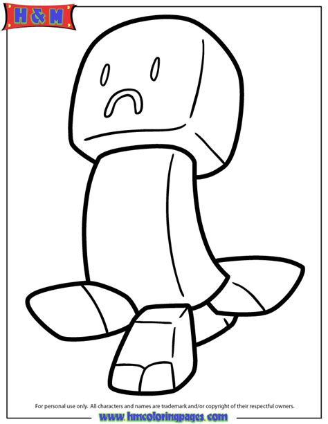 mine craft creeper colouring pages