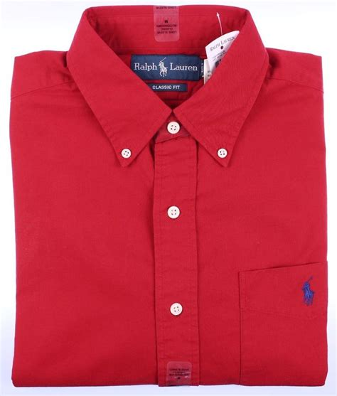 Dress Casual Polo Shirt details about polo ralph mens classic shirt sleeve button casual dress new