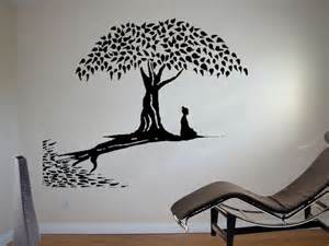 Buddha Wall Mural meditating buddha wall art sticker buddhism decal