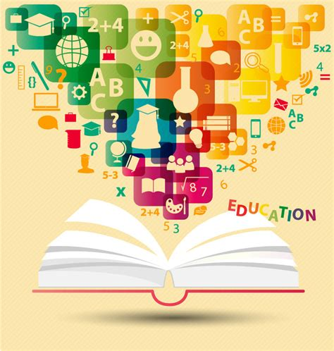 education ideas creative books educational background element vector