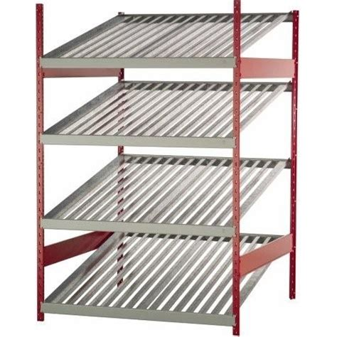 Battery Shelf by Battery Display Storage Rack With Slanted Battery Shelves