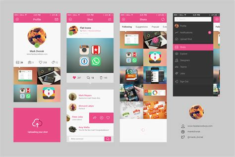 app design template dribbble app concept psd graphicburger