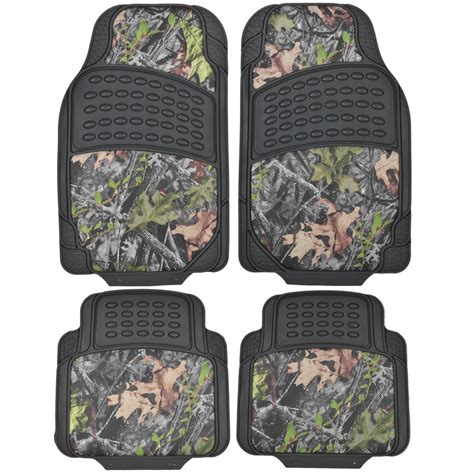 Camouflage Car Mats hd rubber floor mats camo inlay 4pc heavy duty car truck