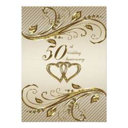 50th wedding anniversary invitation card 5 5 quot x 7 5 quot invitation card zazzle