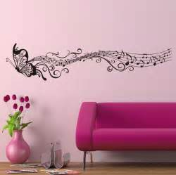 butterfly wall art stickers decorative music butterfly wall stickers wall art decal