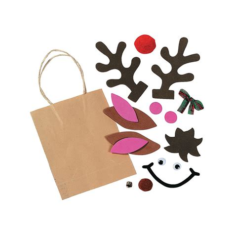 Reindeer Paper Bag Craft - reindeer paper gift bag craft kit trading