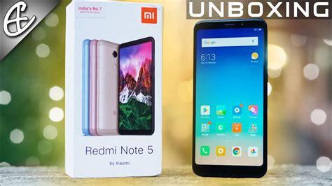 xiaomi redmi note 5 18 9 display 4000 mah unboxing