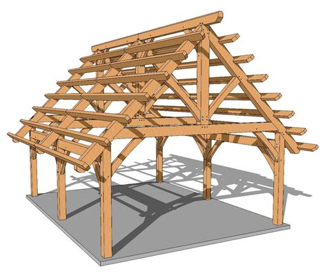 Backyard Shed House 18x24 Foot Timber Frame Pavilion Plan Timber Frame Hq