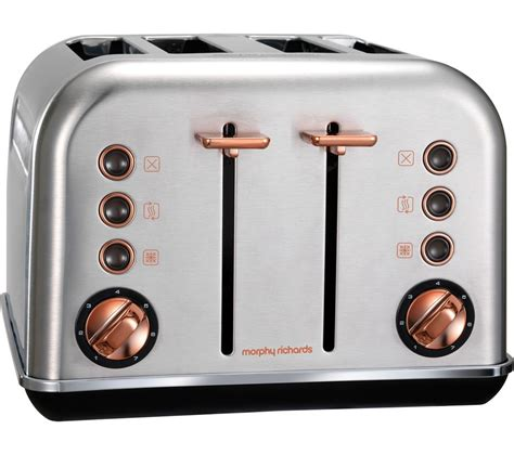 rose gold appliances buy morphy richards accents 102105 4 slice toaster