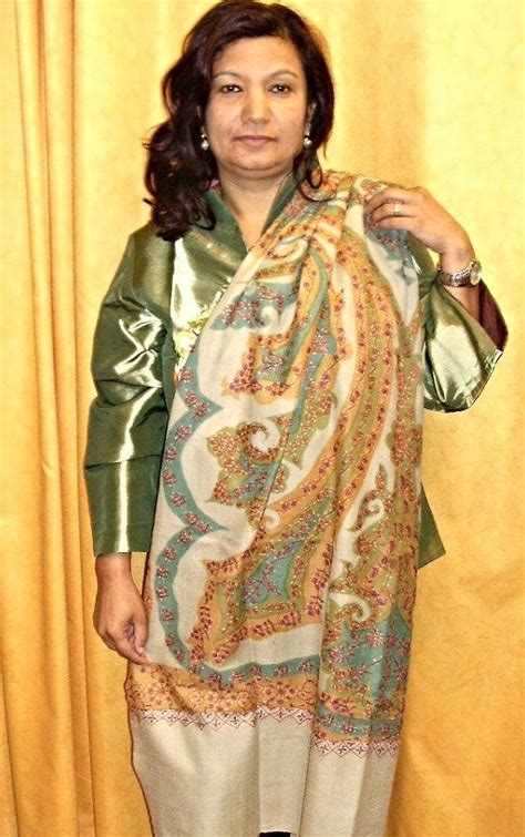 embroidered indian shawl scarves