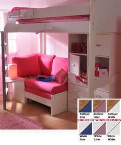 Loft Bed For Teenager Teen Girls Loft Bed With Desk Stompa Casa 6 Kids High