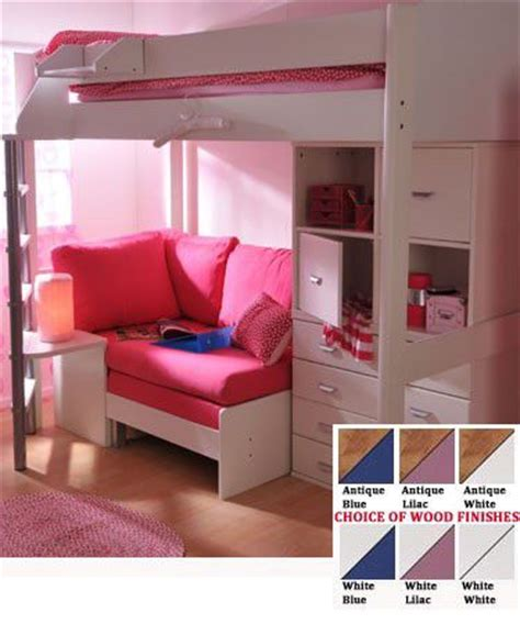 beds for teenagers teen girls loft bed with desk stompa casa 6 kids high