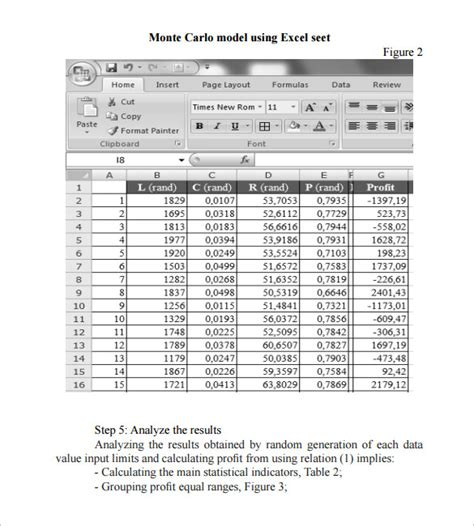 monte carlo simulation template 12 monte carlo simulation templates to sle