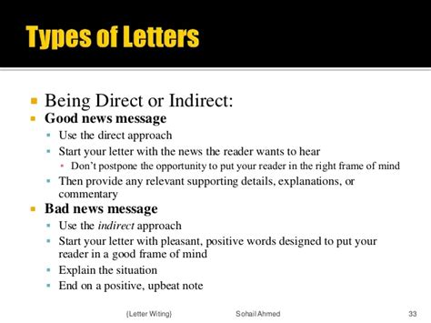 Sles Of Compose Letters With Inderect Approach Letter Writing By Sohail Ahmed