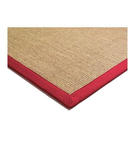 tappeto moderno rosso tappeto moderno sisal beige rosso cm 160x230 compra on line