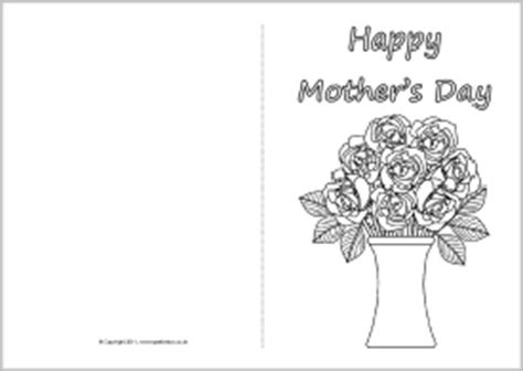 Mothers Day Cards Templates Microsoft Word by S Day Card Colouring Templates Sb4359 Sparklebox