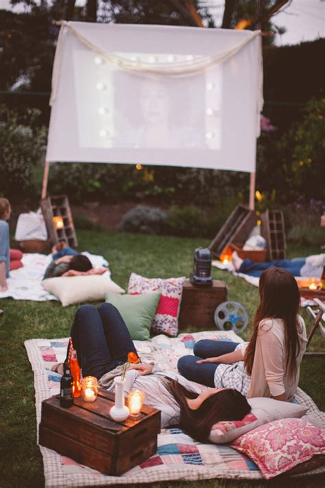 backyard movie night backyard movie night party entertaining ideas wedding