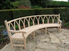 curved garden bench products cotswold woodland crafts