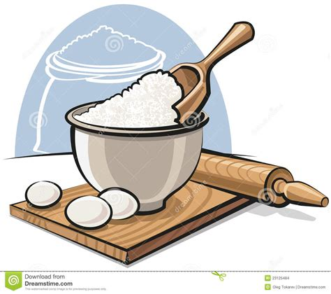 Bakery Floor Plan flour in bowl with eggs stock images image 23125484
