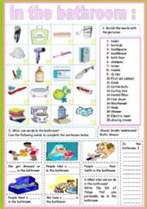 bathroom words in english english teaching worksheets the bathroom