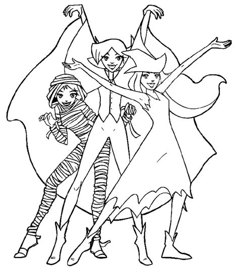 spy coloring pages to download and print for free totally spies kinder kleurplaten totally spies dans