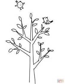 Coloring Pages Of Spring Trees | spring tree coloring page free printable coloring pages