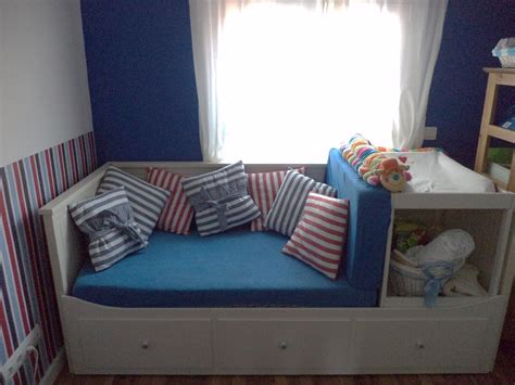 hemnes bed hack guest bed makes space for baby changing table ikea