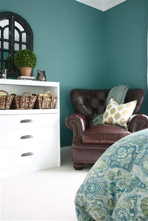 paint color quot hosta quot by martha stewart and i really like the brown leather chair so my future