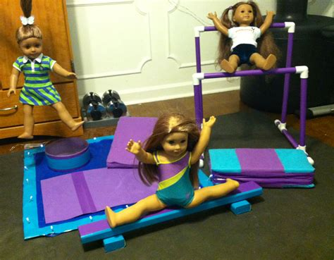 diy gymnastics for mckenna includes uneven bars