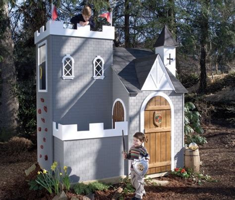 backyard castle playhouse 30 cool outdoor play sets for kids summer activities