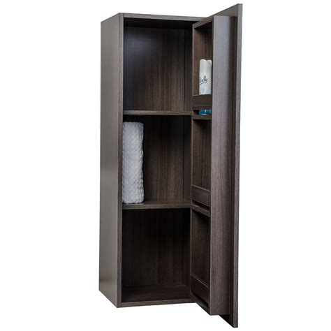 wall mounted linen cabinet buy 16 x 47 25 linen cabinet in grey oak rs r1200 1 sc go