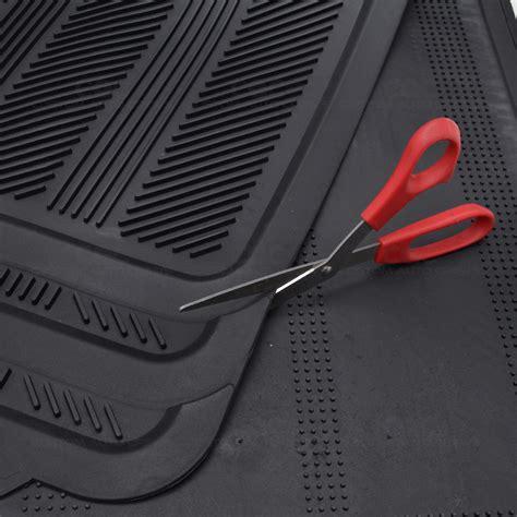 Car Mat Suv by Black 4pc Rubber Floor Mat Car Suv Heavy Duty All Season