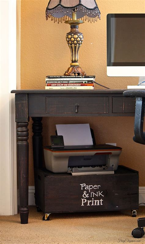 wine crate home office printer stand storage frugelegance wine crate home office printer stand storage frugelegance