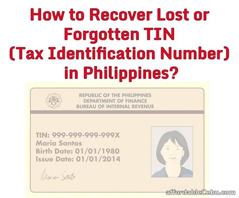 certification letter for tin number how to recover lost or forgotten tin tax identification