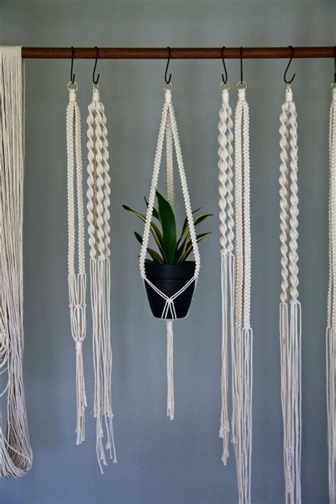 How To Make A Plant Hanger With Rope - 25 best ideas about cotton rope on macrame