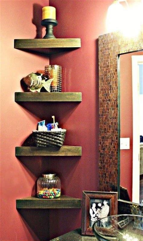 diy corner shelves  beautify  awkward corner