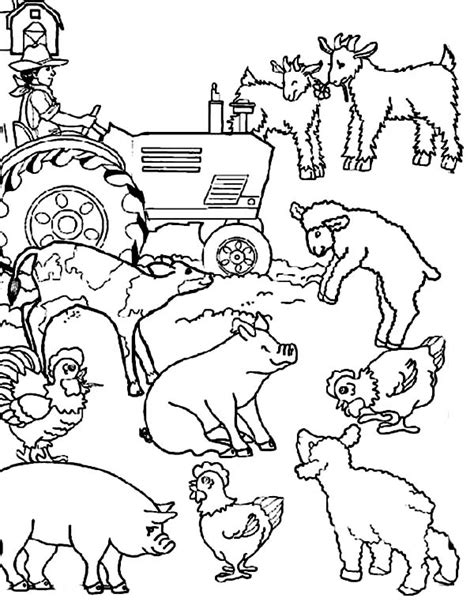 coloring pages of animals on a farm farm animals coloring page free coloring pages on