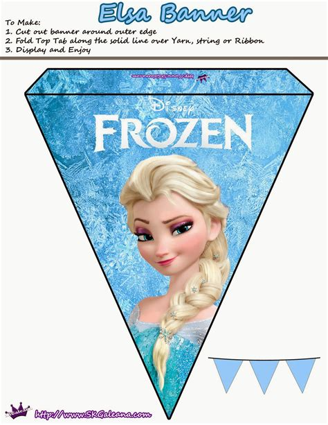 printable frozen garland frozen pretty free printable bunting oh my fiesta in
