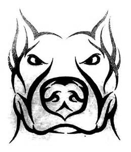 tribal face of dog