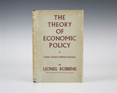 The Political Economy Of Fiscal Policy theory of economic policy in political economy lionel robbins edition