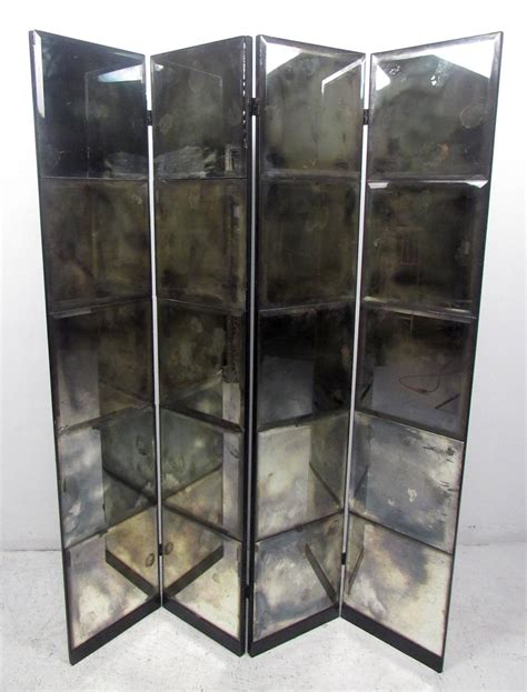 Unique Room Divider Unique Mid Century Mirrored Room Divider At 1stdibs
