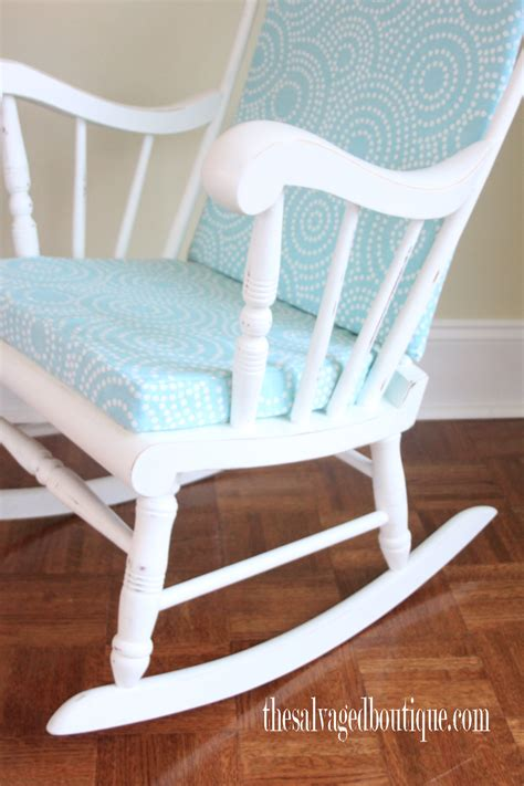 grandpas rocking chair brightened    baby nursery  salvaged boutique