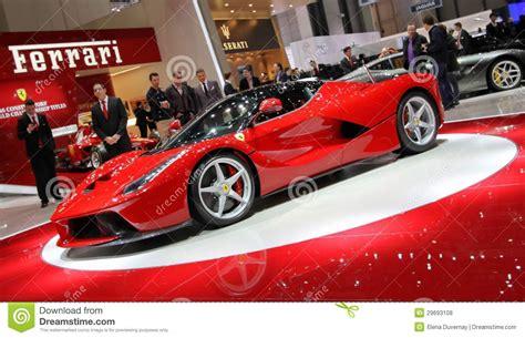 ferrari dealership inside ferrari laferrari geneva motor show 2013 editorial image