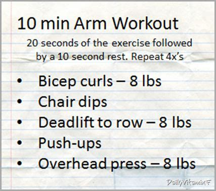 10 minute no equipment arm workout 17 best images about tabata on pinterest ab circuit