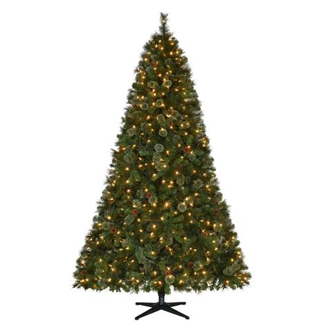 martha stewart living 7 5 ft pre lit led alexander pine