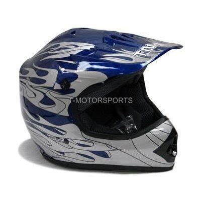 youth small motocross helmet tms youth kids blue flame dirt bike motocross helmet atv