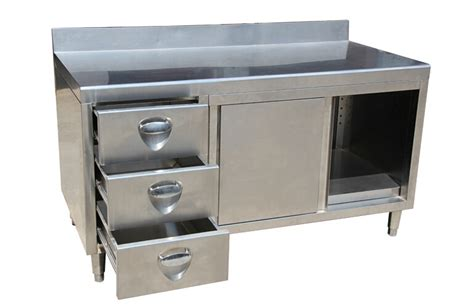 Commercial Kitchen Cabinets Stainless Steel New Design Industrial Stainless Steel Commercial Kitchen Cabinet With Backsplash Drawer 2015