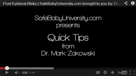 Warning Signs After C Section by Post Epidural Warning Signs Dr Zakowski