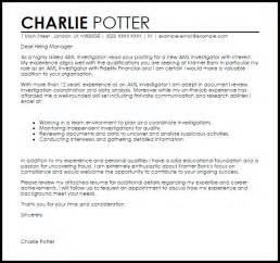 Aml Investigator Cover Letter Sample   LiveCareer